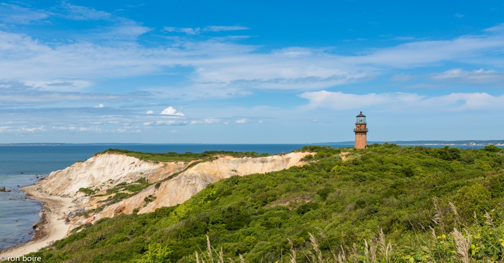 Gay Head Cliffs Lighthouse by Ron Boire