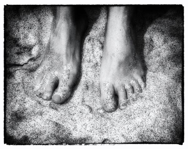 My favorite feet on my favorite beach.