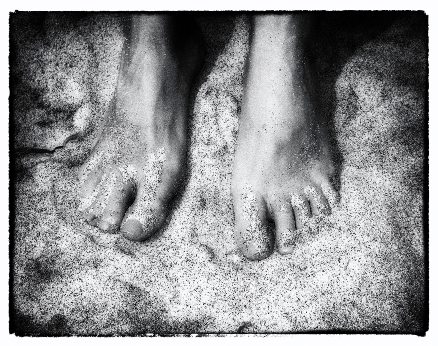 My favorite feet on my favorite beach.